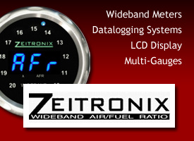 Zeitronix - Wideband Meters : Datalogging Systems : LCD Display : Multi-Gauges