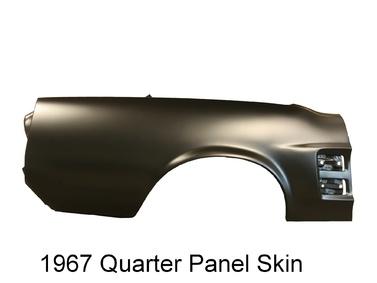 1968 Mustang Quarter Skin